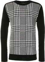 Balmain houndstooth check sweater