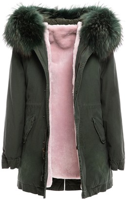 Mr & Mrs Italy New York Parka Midi With Fur
