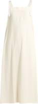 Helmut Lang Apron tie-side crepe dress