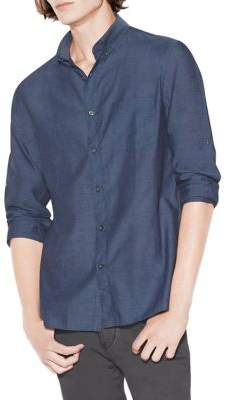 John Varvatos Roll-Up Cotton Shirt