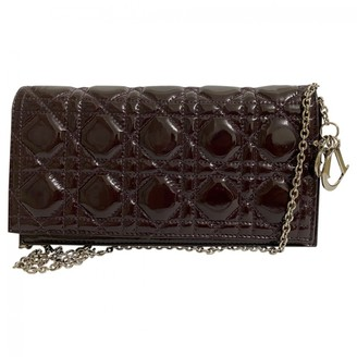 Christian Dior Lady Burgundy Patent leather Clutch bags