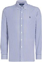 Polo Ralph Lauren Men's Butcher stripe white base button down shirt