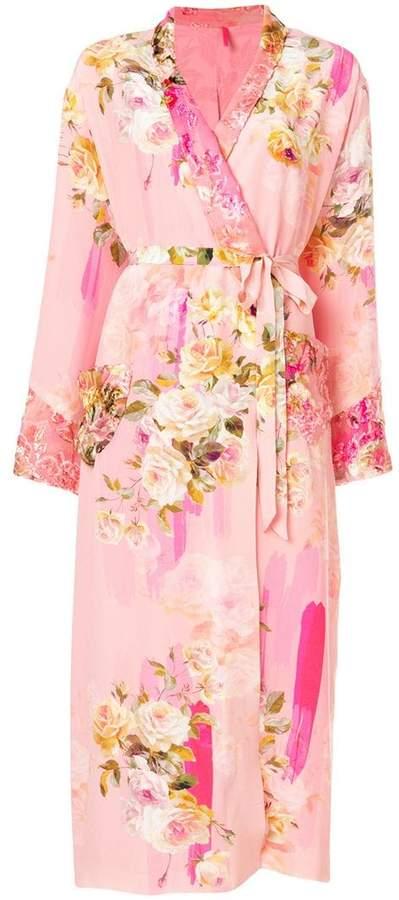 Antonio Marras floral wrap coat