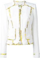 Versace printed trim jacket
