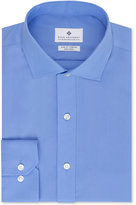 Ryan Seacrest Distinction Non-Iron Slim-Fit Blue Solid Dress Shirt