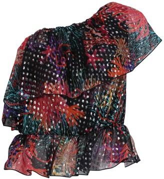 Dundas Multicolored Asymmetric One-shoulder Ruffle Top