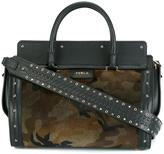 Furla camouflage medium tote - women - Calf Leather/Calf Hair - One Size
