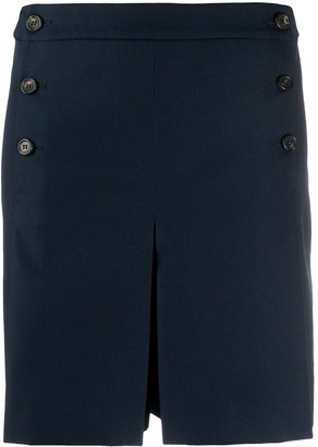 Mulberry High-Waisted Pleated Shorts