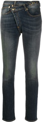 R 13 High-Rise Reconstructed Skinny Jeans