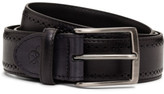 Canali Leather Buffed Perforated Belt