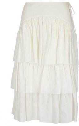 See by Chloe Ruffle Tiered Midi Skirt