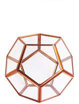 Jay Import Glass Planter - Rose/Gold
