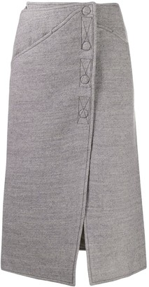 Courreges Felted Midi Skirt