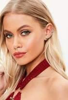 Missguided Monochrome Diamante Ear Cuff Earring