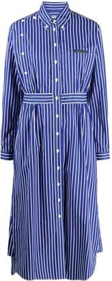 Prada Striped Button Down Midi Dress