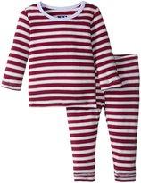 Kickee Pants Print Pajama Set (Baby) - Tundra Stripe - Newborn