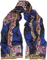 Emilio Pucci Printed modal, cashmere and silk-blend scarf