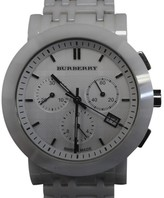 Burberry Chronograph BU1770 Ceramic White Dial Quartz 40mm Womens Watch