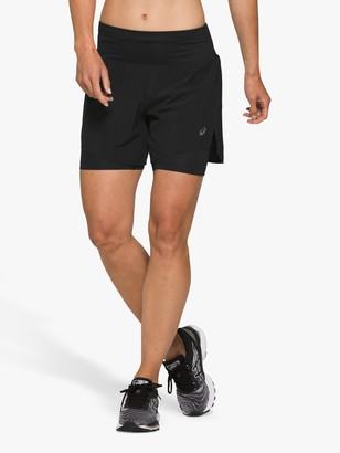 Asics Road 2-in-1 5.5 Running Shorts, Performance Black