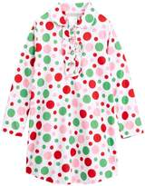 Komar Kids Girls Pink Multi Polka Dot Nightgown , Kids Size L(10/12)