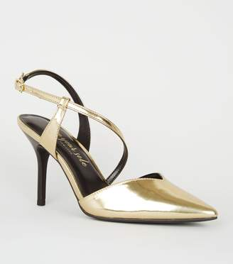 New Look Metallic Strappy Stiletto Court Shoes