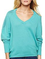 JCPenney Bisou Bisou® V-Neck High-Low Sweater