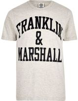 River Island MensGrey Franklin & Marshall T-shirt