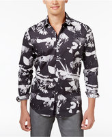 INC International Concepts Men's Abstract Floral Cotton Shirt, Created for Macy's