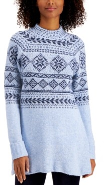 Style&Co. Style & Co Plus Size Fair Isle Tunic Sweater, Created for Macy's