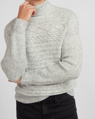 Express Cozy Cable Knit Turtleneck Sweater