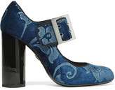 Lanvin Brocade Mary Jane Pumps - Storm blue