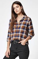 RVCA Jig 5 Plaid Flannel Button-Down Shirt