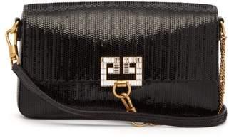 Givenchy Charm Sequinned Shoulder Bag - Womens - Black