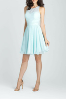 Allure Bridals Short Dotted Chiffon Dress