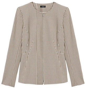 Theory Check Peplum-Back Jacket