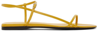 The Row Yellow Bare Flat Sandals