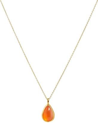Gurhan 24kt and 22kt gold Rune fire opal pendant necklace