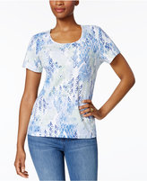 Karen Scott Petite Printed T-Shirt, Only at Macy's