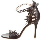Marchesa Leather Laser Cut Sandals w/ Tags