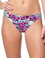 Jessica Simpson Botanica Side Shirred Hipster Bikini Bottom