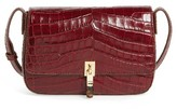 Elizabeth and James Cynnie Flap Croc Embossed Crossbody Bag - Red
