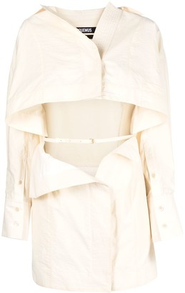 Jacquemus Open-Front Shirtdress