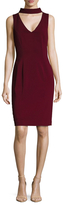 Badgley Mischka Mockneck Sheath Dress
