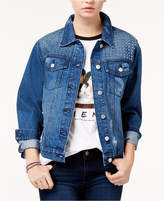 Tinseltown Juniors' Studded Denim Jacket