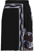 Emilio Pucci Pleated Printed Crepe Mini Skirt