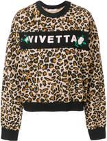 Vivetta leopard print logo sweatshirt