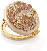 Jay Strongwater Boudoir Round Floral Compact