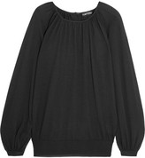Tom Ford Gathered Cashmere And Silk-blend Sweater - Black