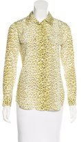 Equipment Silk Leopard Blouse