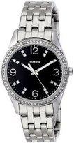 Timex Women's T2P387 Silver-Tone Bracelet Watch with Swarovski Crystals